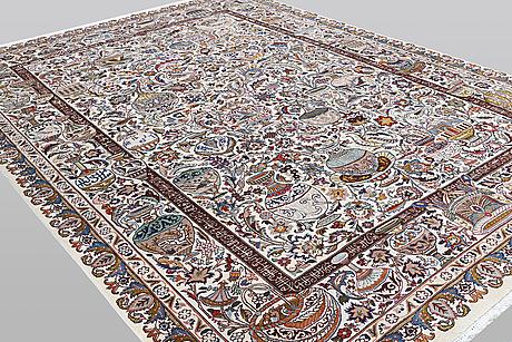 A carpet, kashmar, 394 x 292 cm.