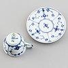 Royal copenhagen, a part 'musselmalet' coffee and tea service, denamrk (48 pieces).