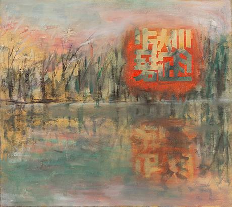 Zhao shaoruo, öljy kankaalle, a tergo signeerattu ja päivätty 2008.