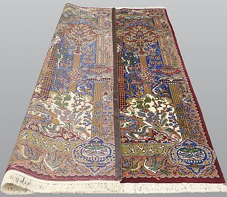 A carpet, kashmar, 302 x 201 cm.