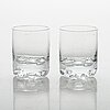 Tapio wirkkala, two sets of 'gaissa' schnapps glasses for iittala, in wood boxes, four in each.