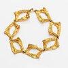 Helky juvonen, a 14k gold bracelet. westerback, helsinki 1972.