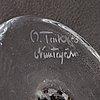 Oiva toikka, a glass bird, signed o. toikka nuutajärvi.