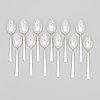 "Bertel gardberg, a 110-piece set of ""birgitta"" silver cutlery, marked bg, hopeatehdas oy, helsinki 1956-65."