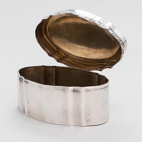 An austro-hungarian silver box, maker's mark gm, pest 1872-1922.
