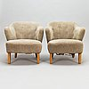 Flemming lassen, a pair of armchairs manufactured by asko 1952-1956.