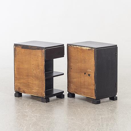 Sängbord, art deco 1930-tal.