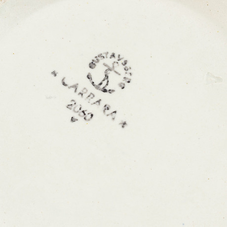 "Wilhelm kåge, skålar, ""våga"", 3 st, carrara, gustavsberg."