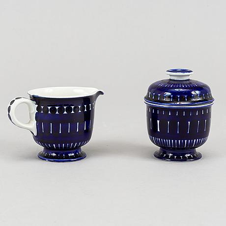 Ulla procopé, coffee/tea service, 23 pieces, 'valencia' arabia, finland.