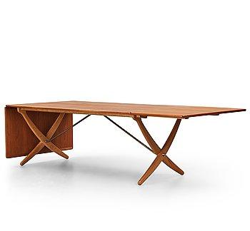 "412. Hans J Wegner, an ""AT-314"" dinner table with flaps, Andreas Tuck, Denmark 1950-60's."