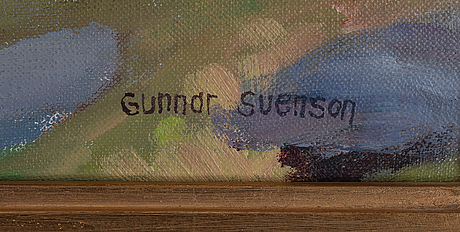 Gunnar svenson, oil on canvas, signed.