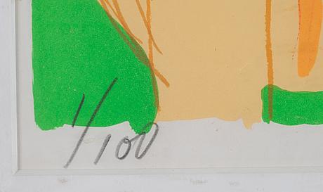 Walasse ting, färglitografi, signerad 1/100.