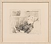 Albert edelfelt, etching, signed on plate.