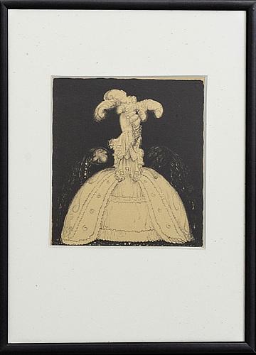 "John bauer, lithograph from ""troll""."