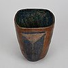 Dagmar norell, a signed earthenware vase.