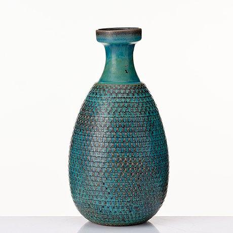 Stig lindberg, a stoneware vase, gustavsberg studio, sweden 1964.