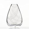 """Vicke lindstrand, an engraved glass vase """"it smells like fish"""", kosta, sweden 1950's."""