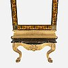 A late 19th century mirror and console table.