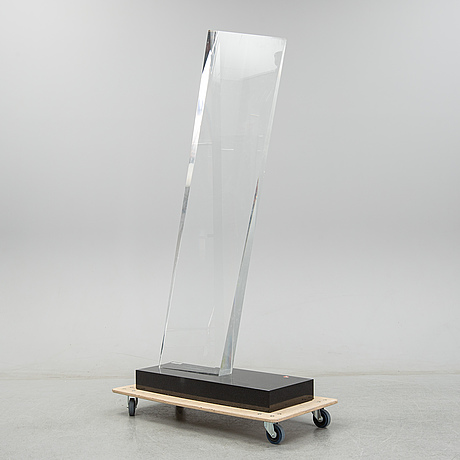 Lars brander, sculpture, plexi, signed lars brander and dated 1989.