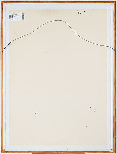 Bert johnny nilsson, lithographic ground with collage, signed and numbered 13/50.