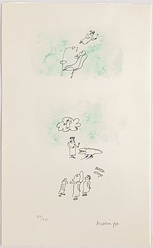 Madeleine Pyk, lithograph in colours, signed 154/200.