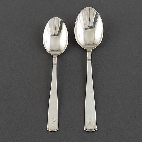 Jacob ängman, a set of 12+6 silver spoons, gab.