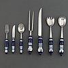 """Björn wiinblad, 40 pices of cutlery 'siena"""", rosental."""