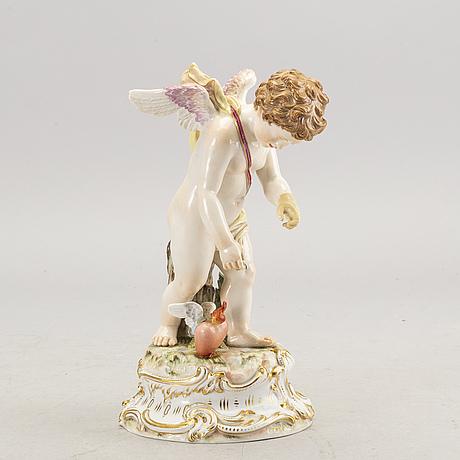 Figurin meissen sent 1800-tal porslin.