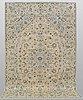 A carpet, kashan, ca 300 x 195 cm.