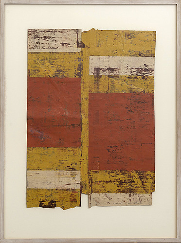 Ueli michel, oil on paper/collage signed and dated 1994.