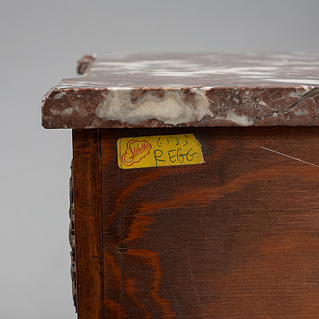 A mid 20th century gustavian style chest of drawers.