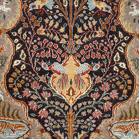 A rug, oriental, figural, ca 159 x 92 cm.