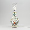 A canton famille rose enameled vase, turned into a table lamp, qing dynasty, late 19th century.