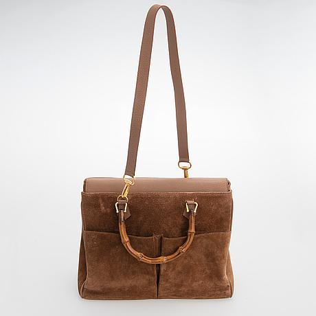 Gucci, bamboo flap tote bag.