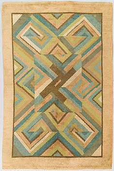 Margareta Ahlstedt-Willandt, ryamatta, Kotiteollisuus Oy Orkamo. Ca 290x195 cm.