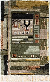 A Finnish long pile rug. Circa 215x135 cm.