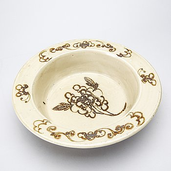 A Swatow earthenware bowl Ming dynasty.
