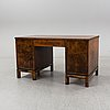 A stained birch desk, 1930's.