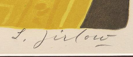 Lennart jirlow, färglitografi signerad och numrerad 256/380.