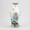 A chinese famille rose vase, 20th century.