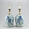 A pair table lamps/vases, late qing/early 20th century.