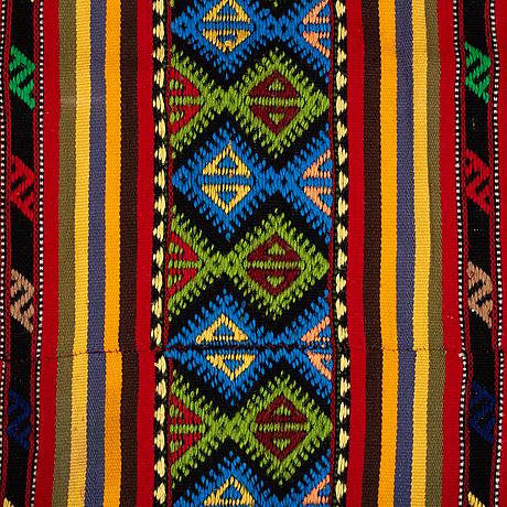 A carpet, flat weave, ca 226-228,5 x 170-171 cm, second half of the 20th century.