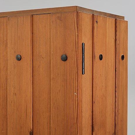 """Axel einar hjorth, a stained pine """"lovö"""" cabinet, nordiska kompaniet, sweden 1930's."""