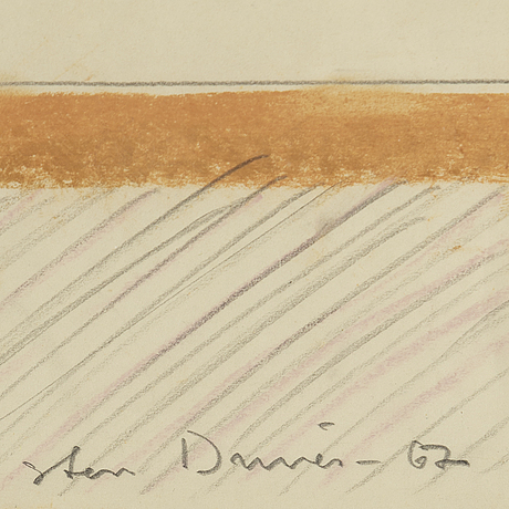 Sten dunér, mixed media, signed and dated -67.