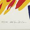 Carl johan de geer, färgserigrafi, signerad 70/190.