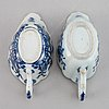 Two blue and white export porcelain saucers, qing dynasty, qianlong (1736-95).