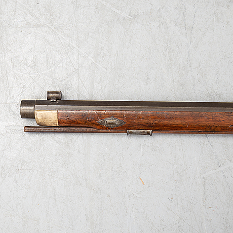 A pecussion rifle by john donaghy, amsterdam (1820-50).