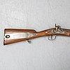 A danish jaeger rifle 1853 pattern with bayonet.