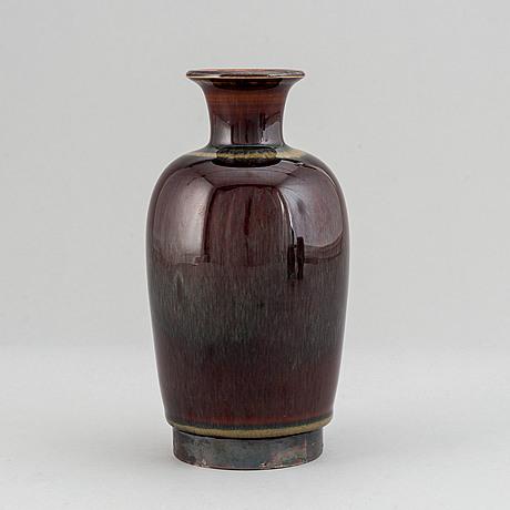 Carl-harry stålhane, a stoneware vase for designhuset, sweden.