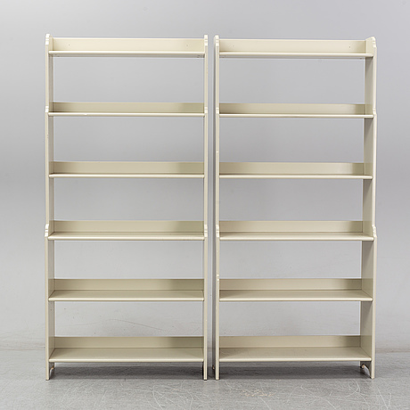 A pair of 'leksvik' book cases from ikea.